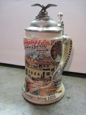 Rare Yuengling Brewery First Edition Signature Series Beer Mug / Lidded Stein