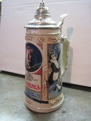 Hamm's Beer Lidded Stein / Mug 1993 Limited Holiday Edition By Pabst Brewing Co.