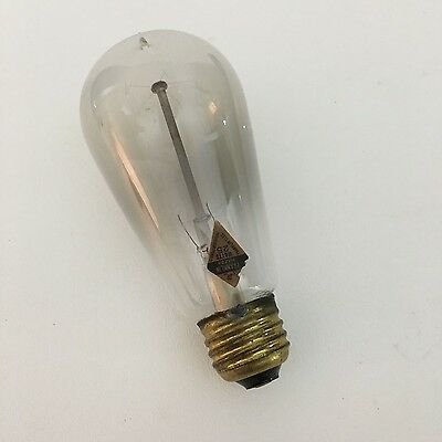 Antique Light Bulb Edison Era Franklin Electric MFG Hartford CT Original Label