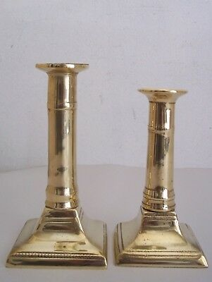 Pair of signed Vintage seamed brass Federal style candlesticks