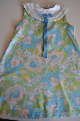 Vintage Cinderella Brand Dress Blue Floral Needs some Repair 1960's