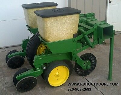 No-Till John Deere 2 Row 7100 Corn Planter Food Plot Seeder