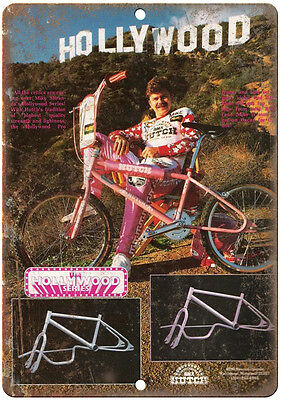 "Hutch BMX Hollywood Series - 10"" x 7"" reproduction metal sign wall art"
