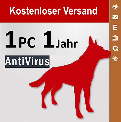 G Data AntiVirus 2018 Vollversion GDATA 1 PC / 1 Jahr plus Bonus-Periode