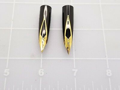 Judd's Lot of 2 NEW Old Stock 14kt. Gold Sheaffer Fountain Pen Nibs