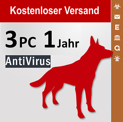 G Data AntiVirus 2018 Vollversion GDATA 3 PC / 1 Jahr plus Bonus-Periode