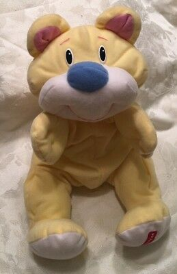 "16"" Vintage Fisher Price Yellow Rumples Teddy Bear Plush Lovey 1999"