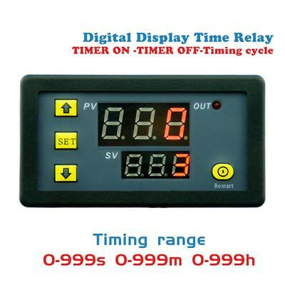 DC 12V 20A Digital Display Time Delay Relay Timing Timer Cycling Module 0-999h