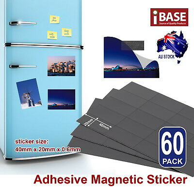 60x Magnet Sticker Self Adhesive Fridge Wedding Photo Notes Magnetic Strip Tape