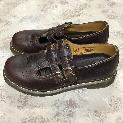NEW Dr. Marten Air Wair Women's Dark Brown Leather Mary Jane Shoes US Size 10