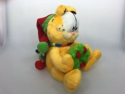 Garfield Plush Musical Christmas Here Comes Santa Clause Lights Sounds Holiday