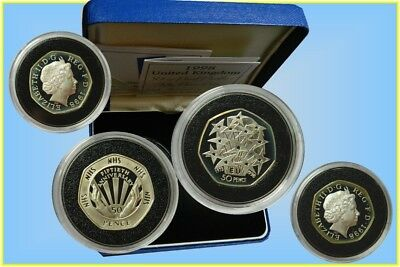 GB. 50  Pence 1998 Silver Proof Piedfort  'Two coin Set'