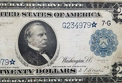 DH Fr 990* $20 1914 STAR Note VF Chicago