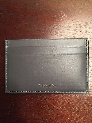 Tiffany & Co. Charcoal Leather Card Case - New in Original Box - Retail $175!!!