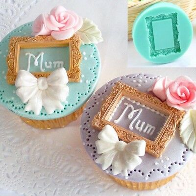 3D Photo Frame in Silicone fondente stampi torta Sugarcraft stampo cottura DIY