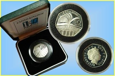 GB. 50 Pence 2000 Silver Proof 'Public Libraries'