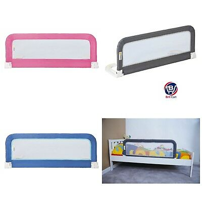 Safety 1st Baby Portable Bed Rail Guard Kids Toddler Child Rail - Blue Grey Pink
