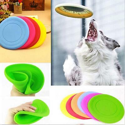 1PC CANE Frisbee Flying DISCO DENTE resistente all'aperto grande cane TRENO