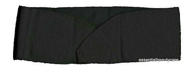 Black STRETCHY terry towelling toweling headband with velcro