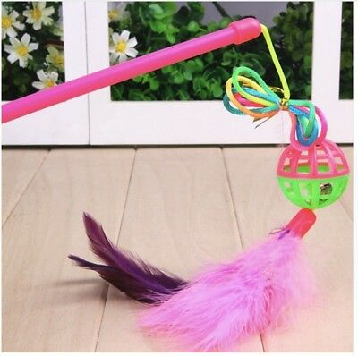 Pet Kitten Teaser Toy 1 Colorful  with Suspended Bell For Your Giddy Kitty