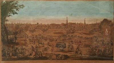 Rare 17th or 18th Century Etching of The City of Cartegena Colombia by French