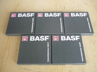 5x BASF Tonband Audio Professional VM950 DTI / 366m 6.3mm 1200 FT 1/4 IN - NEU