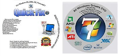 Win 8/7/Vista XP Boot Repair Recovery Restore CD & AUTOMATIC Drivers!!