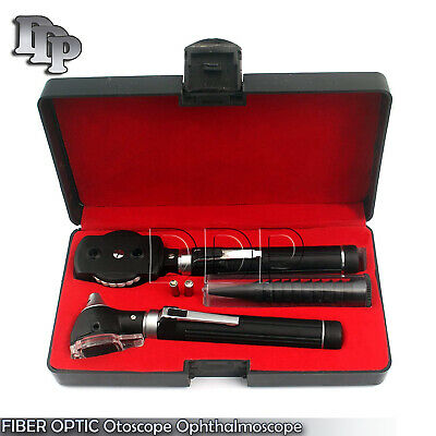 NEW FIBER OPTIC Otoscope Ophthalmoscope Examination LED Diagnostic ENT SET