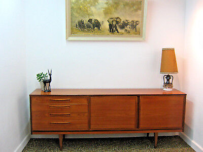 "Retro Teak Sideboard by Alfred Cox. Vintage, large 6' 9"" Northants"