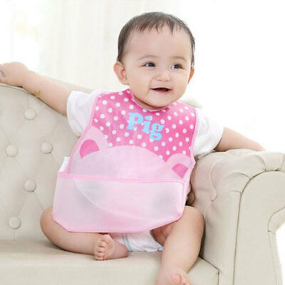 Baby Boy Girl Kids Waterproof Saliva Towel Cartoon Animal Bib Feeding Bandana