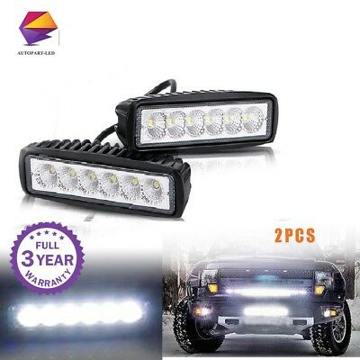 6inch LED Work Light Bar Flood Lights for Driving Lamp Offroad Car Truck SUV 2P