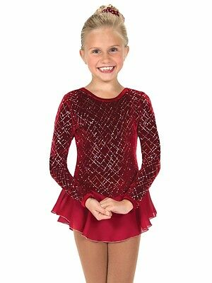 Ice/Figure Skating Dress Raspberry Ice Tinsel age 8/10 Jerry's NEW Reduced Price