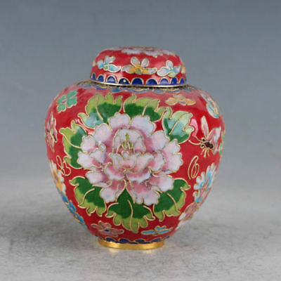 Chinese Cloisonne Hand-made Lotus Pot
