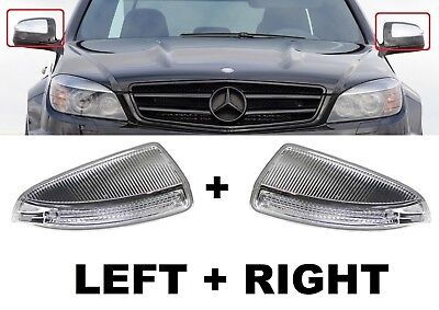 Fits Mercedes Benz C Class W204 6.07-3.11 Left Door Wing Mirror Indicator Clea