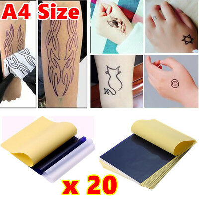 20pcs A4 Tattoo Transfer Paper Stencil Spirit Thermal Carbon Tracing Hectograph