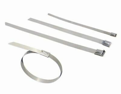 520mm x 4.6mm Stainless Steel Cable Ties Pack 100