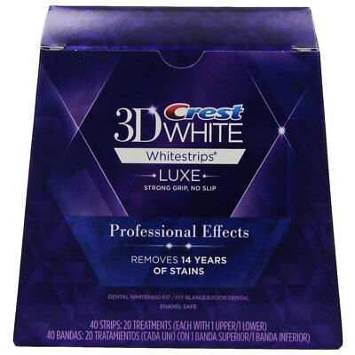 Crest3D Professional Effects Whitestrips 10 Pouches = 20 Strips - Quick Results