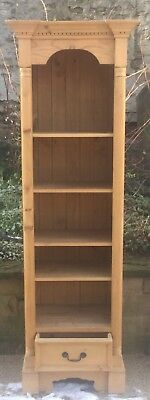 Pine Tall Bookcase Four Shelves