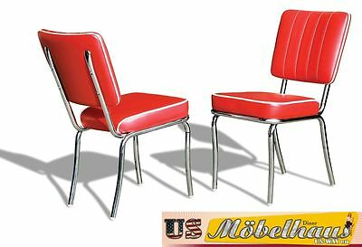 CO-25 Red Bel Air Furniture 2 Chairs Diner Kitchen in the Style of 50 Piece