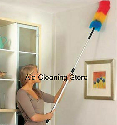 EXTRA LONG HANDLED DUSTER DUST BUSTER - EXTENDS REACH BY UP TO 190cm GENIE