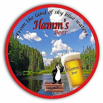"Hamm's Beer Sign - 24"" Diameter"