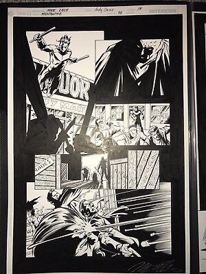 Original Nightwing Comic Art #96 Page 19 Andy Owens Mike Lilly Batman