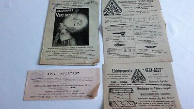 Catalogue LAMPES VERY BEST Lanterne LUSTRE Lampe ACETYLENE BICYCLETTE VERY BEST