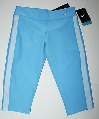 Youth Girl's Nike Legend Tight Fit Capri Pants Blue Size M NWT