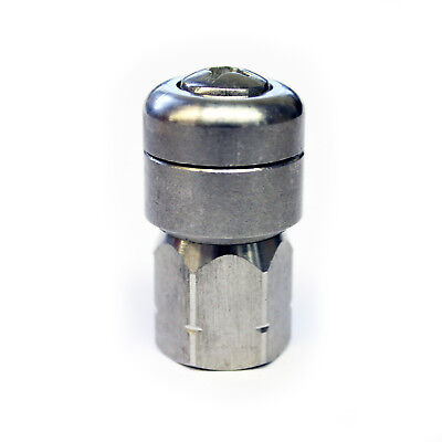 """Stainless Steel Pressure Washer Drain Sewer Cleaning Rotating Nozzle Jet 1/4"""""""