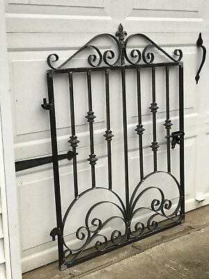 Victorian Iron scroll garden Gate