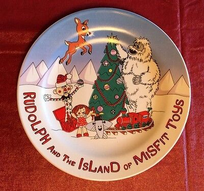 """Rudolph And The Island Of Misfit Toys Collectible Plate 8"""""""