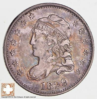 1829 Capped Bust Half Dime LM-15.2 R4 Veds P/C *2738