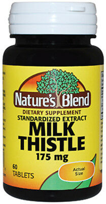 Nature's Blend Milk Thistle 175 mg, 60 Tablets