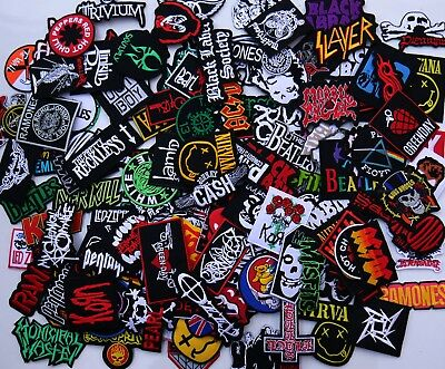 Lot of RANDOM Embroidered Iron On Patch Band Music Punk Rock n Roll Heavy Metal